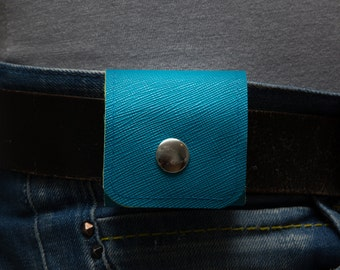 AirPods Case, Earphones Cover. Carrying Solution. Vegan. Blue Green. WeirdOldSnail