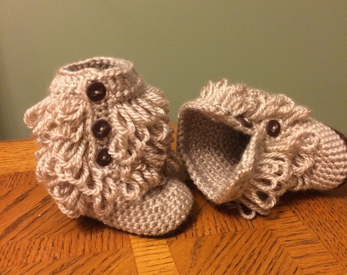 Baby Boots, Baby Booties, Loopy Uggs, Baby Uggs, 0-6 months, 6-12 months