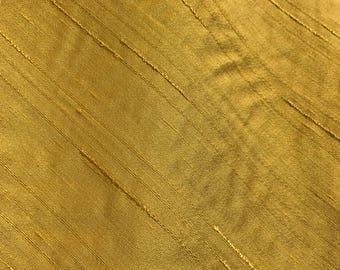 Vintage Gold Shantung Faux Silk Fabric