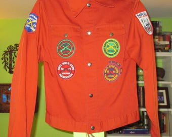 Vintage 1975 National Rifle Association NRA Junior Jr Jacket w/ Patches Awards