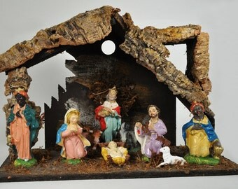 Vintage Italian Nativity Creche One Piece Made in Italy 1950's - 1960's