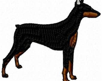 Doberman Dog Machine Embroidery Design - Instant Download