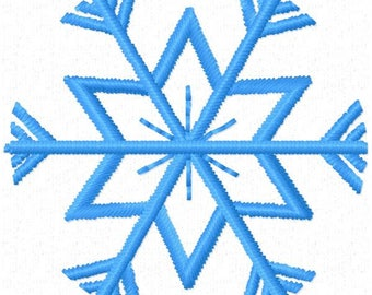 Snowflake Machine Embroidery Design ~ Instant Download