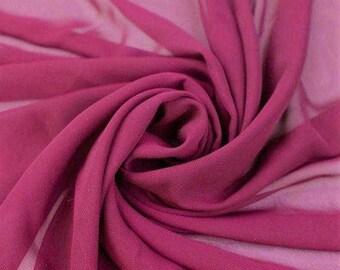 Hi Multi Chiffon Fabric - 50 Yards - Magenta