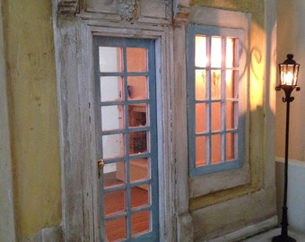 French Provincial 'Lumiere' OOAK Dollhouse, 1/12th Scale