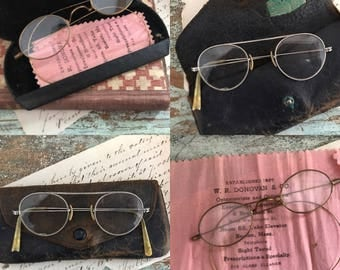 Antique spectacles: old pair of glasses