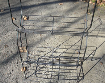 nice shape vintage 1950s mid century 3 tier WIRE record book PLANT stand or shelf free shipping