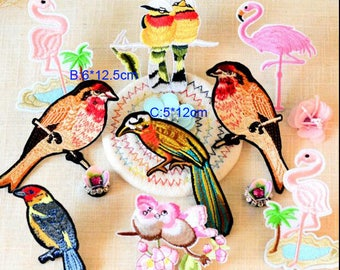 8-10pcs 5-12cm wide birds shoes clothes dress embroidery lace appliques patches V51T82J0421T free ship