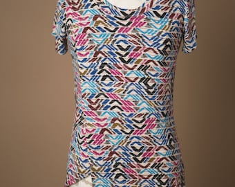 Chevron, Preppy, Vacation, Nursing Top, Maternity, Hip Mom, Mother, New Mother, Knit Top, Wrap shirt~ Brace for Impact