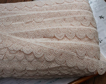 1 1/4 inch wide Light Beige lace trim price for 1 yard
