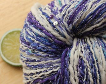 High Mountain - Handspun Yarn Wool Cashmere Merino DK Weight Beaded