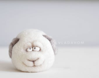 Felt doll - Handmade toys - Needle felting - Miniature - Felt toys - Sheep - Eco friendly - Personalised gifts - for her - gifts for men