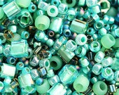 Toho Seed beads MIX - Seafoam Green - N 3203, turquoise green glass beads - 10g - S106
