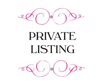 Private listing for Jeremy