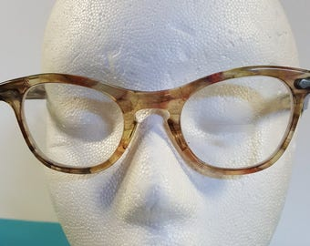 1950s Faux Tortoise Shell Vintage Cat Eye Glasses