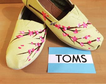 Custom Cherry Blossom Custom TOMS Shoes