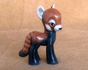 My Little Pony G4 repaint: Red Panda pony