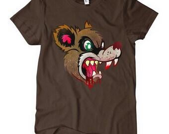 Women's Were Bear T-shirt - S M L XL 2x - Ladies' Bear Tee, Teddy Bear Shirt, Scary, Horror, Cartoon - 3 Colors