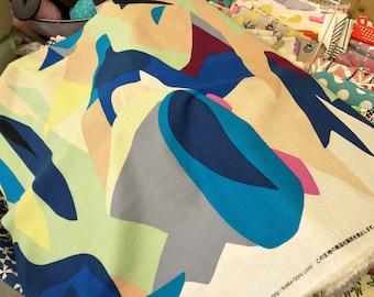 Japanese Fabric / Kokka Fabric Koto Thouin Blue and Green