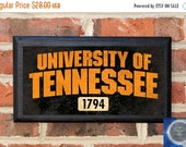 On Sale University of Tennessee Volunteers Established Date Classic Vintage Style Plaque / Sign Wall Home Decor Art Gift Officially Licensed