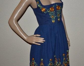 Vintage Trachten Wenger Salzberg Dirndl dress embroidered dress made in Austria  Boho size 40 Halloween costume Summer Dress