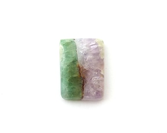 Amethyst & Fluorite Designer Cabochon Gemstone 13.5x18.9x4.7 mm 13.8 carats Free Shipping