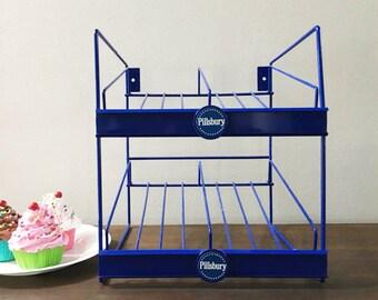 Store Display Rack by Pillsbury / Blue Pillsbury Store Rack / Bakery Rack / Pie Rack / Pastry Display Rack / Pie Stand