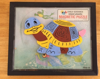 Child's Guidance Turtle Magnetic Puzzle