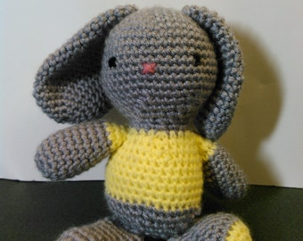 Gray the Plush Rabbit