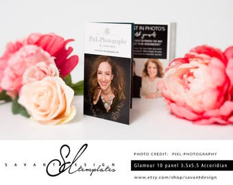 Photography Template, Glamour Photography Accordian Template, Marketing Brochure Template for Photographers, AB100, INSTANT DOWNLOAD