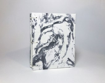 Small Gray Marbled Notebook