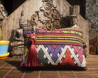 Hand Woven Tribal Textile Clutch Purse