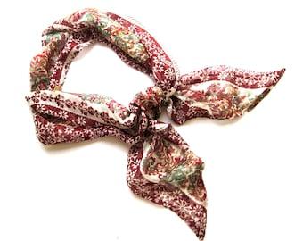 Hair Wrap, Hair Scarf, Purse Scarf, Women Gift, Head Wrap, Teacher Gift, Gift for Her, Head Scarf, Boho Hair Scarf, Bandana, Ready to Ship