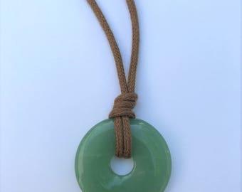 ORGANIC Nursing Necklace / Mama Necklace - Aventurine on Certified Organic Cotton Cord (Adjustable)