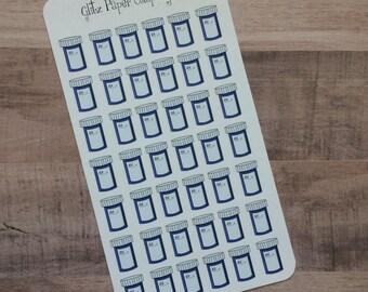 Prescription Bottle Stickers - large sheet