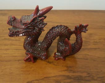 Red resin Chinese dragon