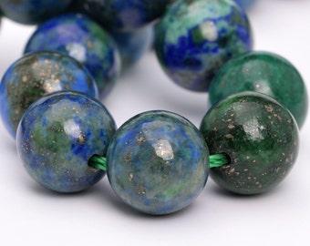 "8MM Azurite Beads Grade AAA Natural Gemstone Half Strand Round Loose Beads 7.5"" BULK LOT 1,3,5,10 and 50 (101114h-807)"