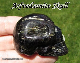 Arfvedsonite Carved Crystal Skull