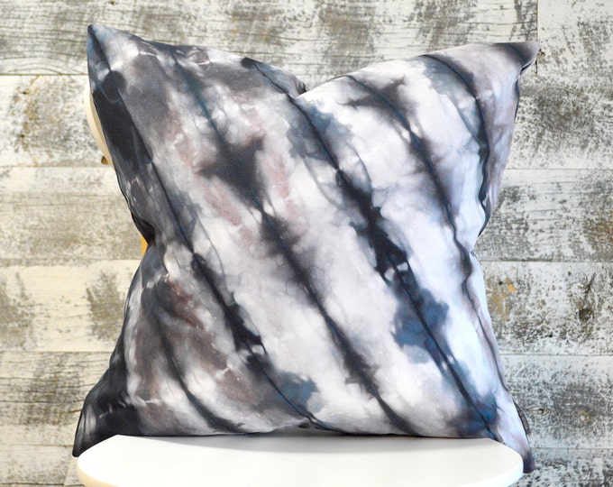 Shibori Pillow Cover 20x20 inches - Wild Chestnut