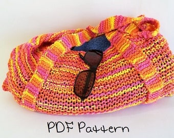Beach Tote Knitting Pattern Easy Beach Bag Pattern