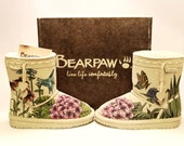 RESERVED FOR MIRRA Bearpaw boots for kids - hand painted boots toddler kid size 12