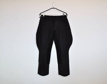 Vintage 90s Dark Brown Equestrian Jodphurs Wool Trousers Pants