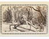 Girls Club See Saw playground 1940s womens fashion Social Realism Photography modern vernacular photos snapshot group portrait