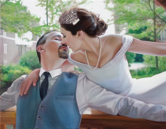 Custom Portrait Oil Painting Custom Painting - Wedding Gift - Anniversary Gift