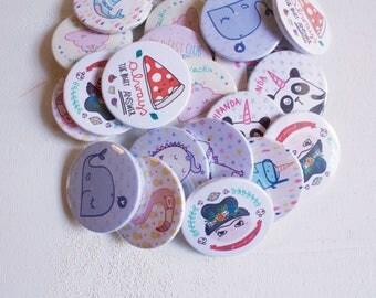 6 illustrated pins