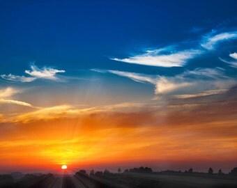 sunset landscape sky cross stitch pattern chart, modern cross stitch, colorful pattern, jpeg pattern, needlecraft pattern, outdoor chart