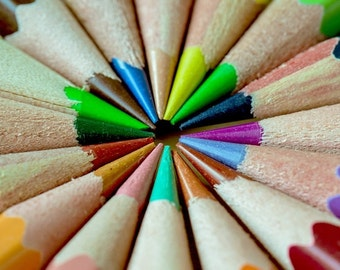 Colorful pencils cross stitch pattern chart, modern cross stitch, colorful pattern, jpeg pattern, needlecraft pattern, Artist, coloring