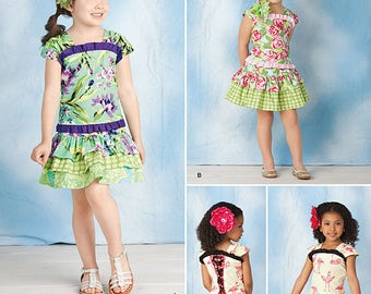 Kids Pattern Corset Style Top and Ruffle Skirt//Simplicty Pattern