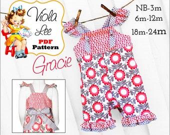 Items Similar To Vintage Romper Sewing Pattern Girls