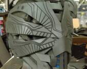 RESERVED custom order payment 3 of 4  - Cyberpunk alien tech helmet w/ red LEDs